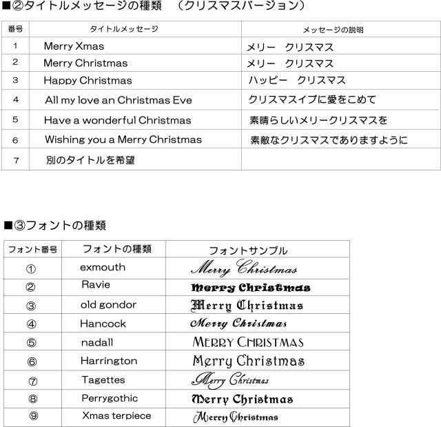 クリスマスメッセージ&フォント